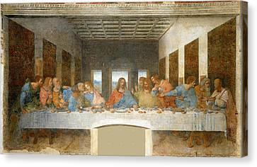 Last Supper Canvas Print by Leonardo Da Vinci
