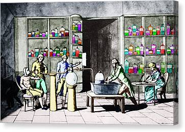 Lavoisier Respiration Experiment Canvas Print by Science Photo Library