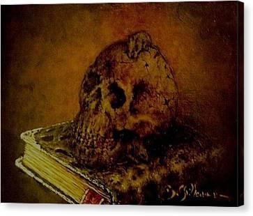 Le Livre Des Morts Canvas Print by Guillaume Bruno