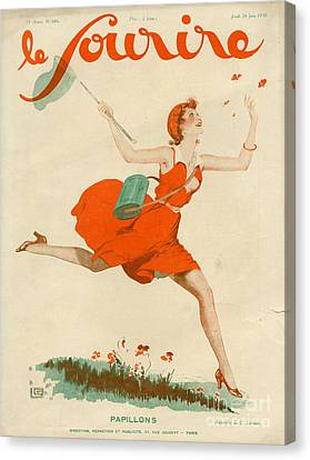 Le Sourire 1930 1930s France Magazines Canvas Print by The Advertising Archives