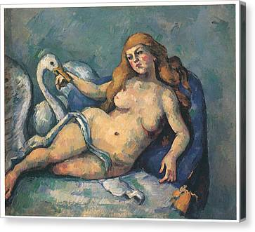 Leda And The Swan Canvas Print by Paul Cezanne
