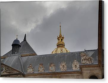 Les Invalides - Paris France - 011311 Canvas Print by DC Photographer
