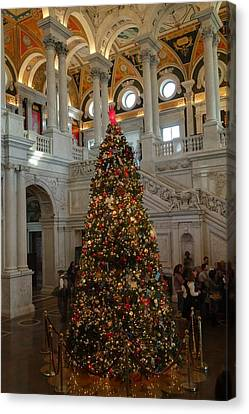 Library Of Congress - Washington Dc - 01138 Canvas Print by DC Photographer