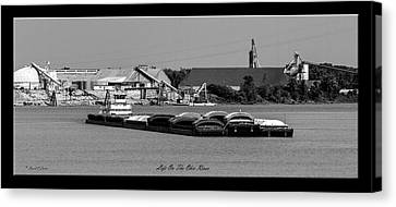 Life On The Ohio River Canvas Print by David Lester