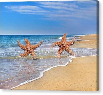 Life's A Beach Canvas Print by Betsy C Knapp