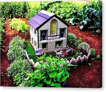 Little Garden Farmhouse Canvas Print by Sherman Perry