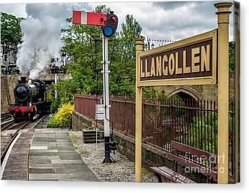 Llangollen Railway Station Canvas Print by Adrian Evans