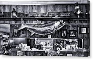 Loose Caboose Restaurant - Boca Grande Canvas Print by Frank J Benz