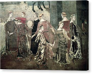 Lorenzetti, Ambrogio 1285-1348 Canvas Print by Everett
