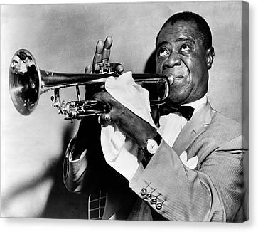 Louis Armstrong Canvas Print by Mountain Dreams