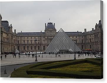 Louvre - Paris France - 01137 Canvas Print by DC Photographer