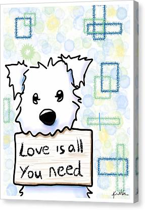 Love Is All You Need Canvas Print by Kim Niles