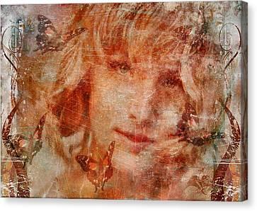 Loved By Butterflies Canvas Print by Gun Legler