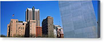 Low Angle View Of Buildings, Hyatt Canvas Print by Panoramic Images