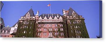 Low Angle View Of The Empress Hotel Canvas Print by Panoramic Images