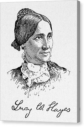 Lucy Hayes (1831-1889) Canvas Print by Granger