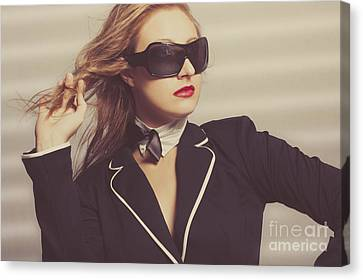 Luxury Fashion Girl In Exclusive Sunglasses Canvas Print by Jorgo Photography - Wall Art Gallery