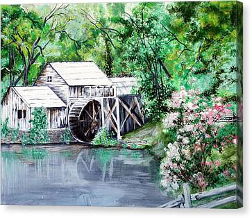 Mabry Mill Canvas Print by Vickie Wright