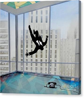 Mad Men Falling Man Canvas Print by John Lyes