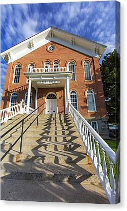 Madison County Courthouse In Virginia Canvas Print by Chuck Haney