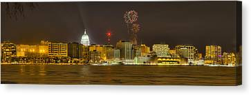 Madison New Years Eve Canvas Print by Steven Ralser