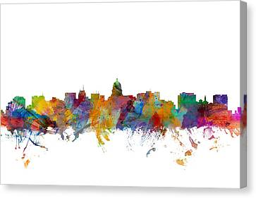 Madison Wisconsin Skyline Canvas Print by Michael Tompsett