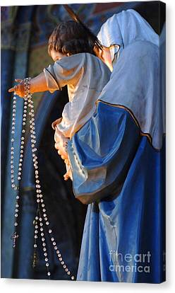 Madonna And Jesus Canvas Print by Bob Christopher