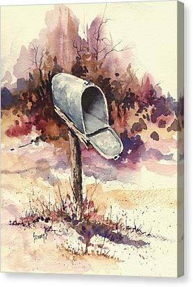 Mailbox Canvas Print by Sam Sidders