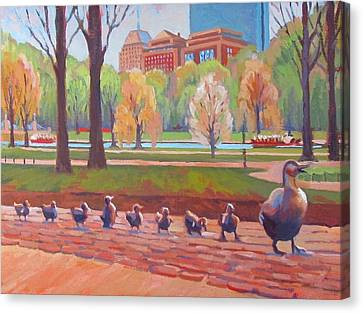 Make Way For Ducklings Canvas Print by Dianne Panarelli Miller