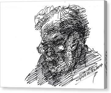 Man In The Corner Canvas Print by Ylli Haruni