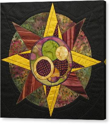 Mandala No 4 Compass Rose Canvas Print by Lynda K Boardman