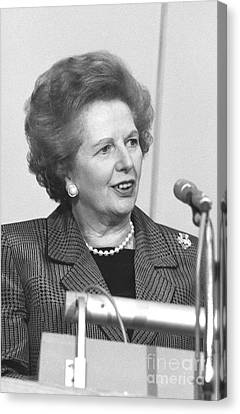 Margaret Thatcher Canvas Print by David Fowler