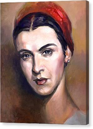 Maria Tanase Canvas Print by Filip Mihail