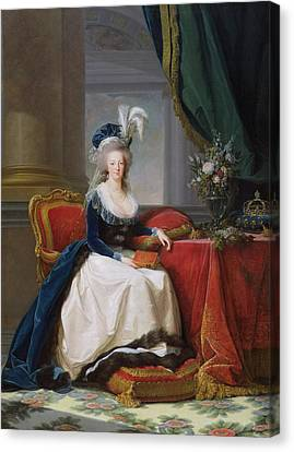 Marie Antoinette Canvas Print by Elisabeth Louise Vigee-Lebrun