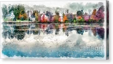 Marlow New Hampshire Canvas Print by Edward Fielding