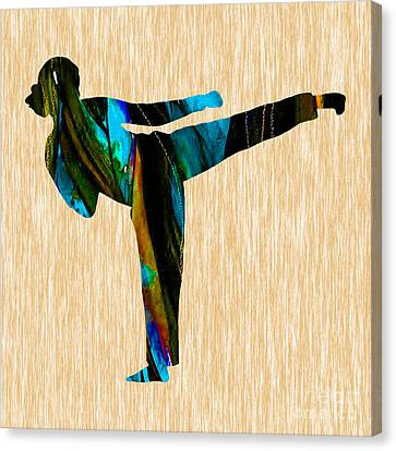 Martial Arts Karate Canvas Print by Marvin Blaine