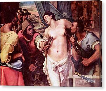 Martyrdom Of St Agatha Canvas Print by Pg Reproductions