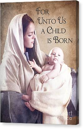 Mary And Jesus Canvas Print by Cindy Singleton