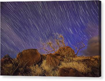 Maui Star Trails Canvas Print by Hawaii  Fine Art Photography