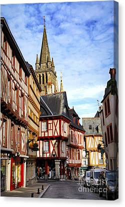 Medieval Vannes France Canvas Print by Elena Elisseeva