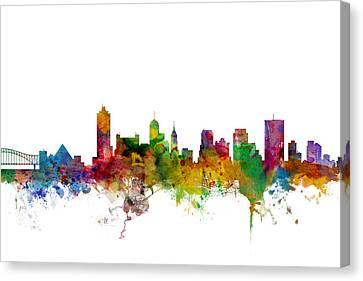 Memphis Tennessee Skyline Canvas Print by Michael Tompsett