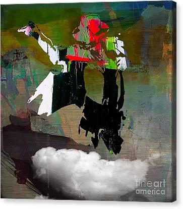 Michael Jackson Resurrected Canvas Print by Marvin Blaine