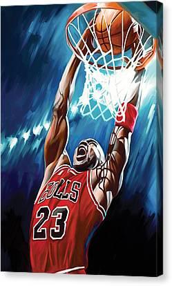 Michael Jordan Artwork Canvas Print by Sheraz A