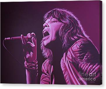 Mick Jagger Canvas Print by Paul Meijering