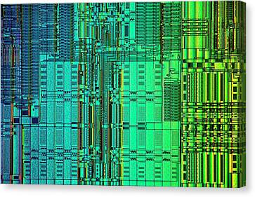 Microprocessor Instruction Decode Unit Canvas Print by Antonio Romero