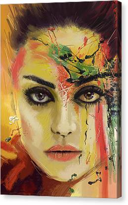 Mila Kunis  Canvas Print by Corporate Art Task Force