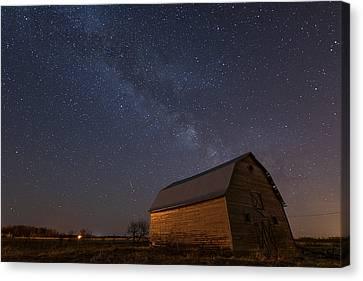 Milky Way Barn Canvas Print by Nebojsa Novakovic
