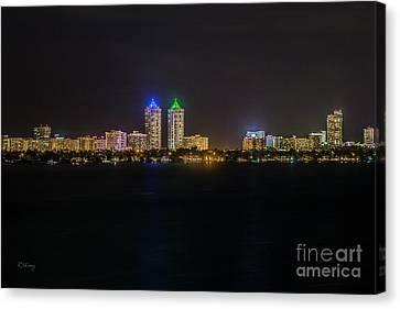 Millionaire's Row Miami Beach Skyline Canvas Print by Rene Triay Photography
