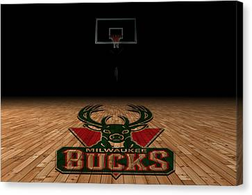 Milwaukee Bucks Canvas Print by Joe Hamilton