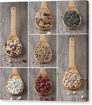 Mixed Legumes Collage Canvas Print by Sabino Parente